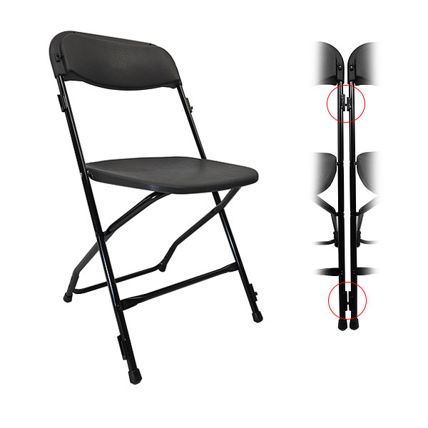 Black Linking Folding Chair