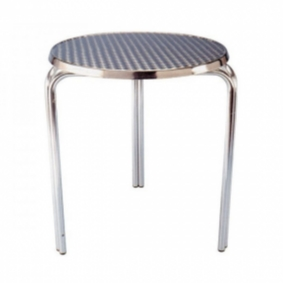Aluminium Low Cafe Stacking Table