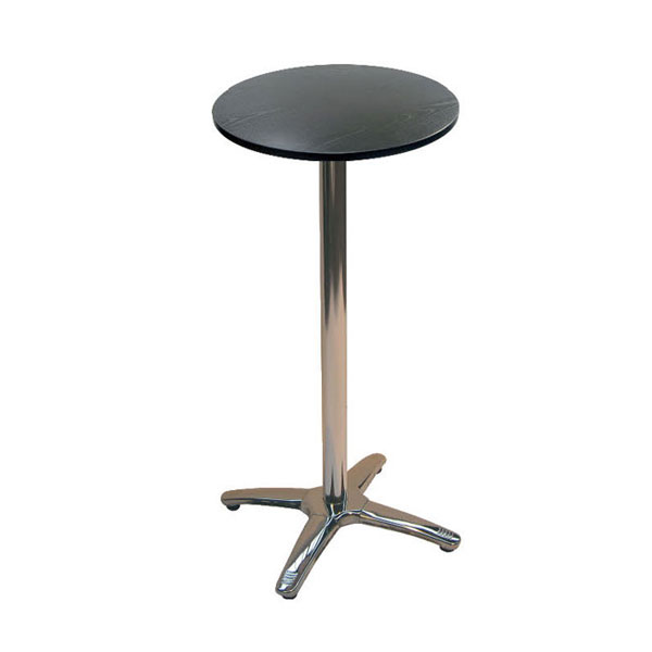 Jem Black Round Poseur Table