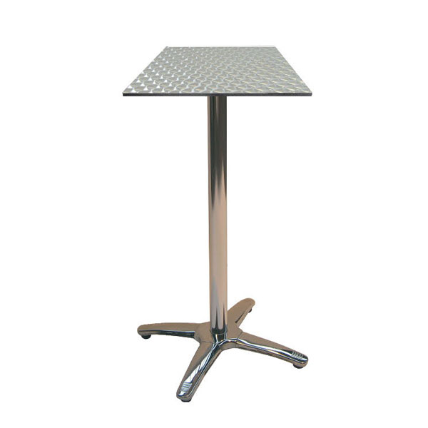 Jem Square Aluminium Poseur Table