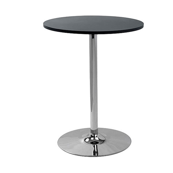 Oro Black Round Poseur Table