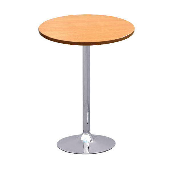 Oro Beech Round Poseur Table