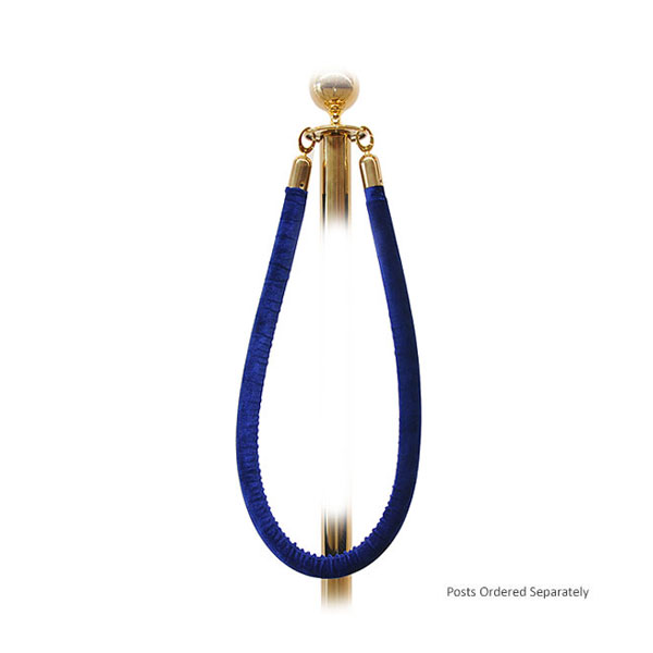 Blue Barrier Rope - Gold Ends