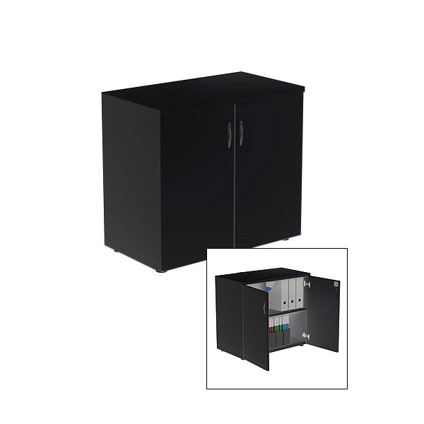 Black Lockable Cupboard