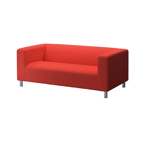 Burnt Orange Fabric Regent Settee