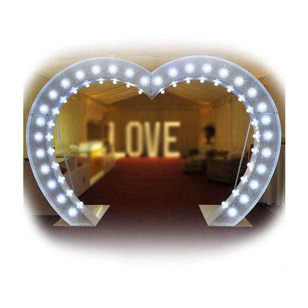 Illuminated Wedding Heart Arch