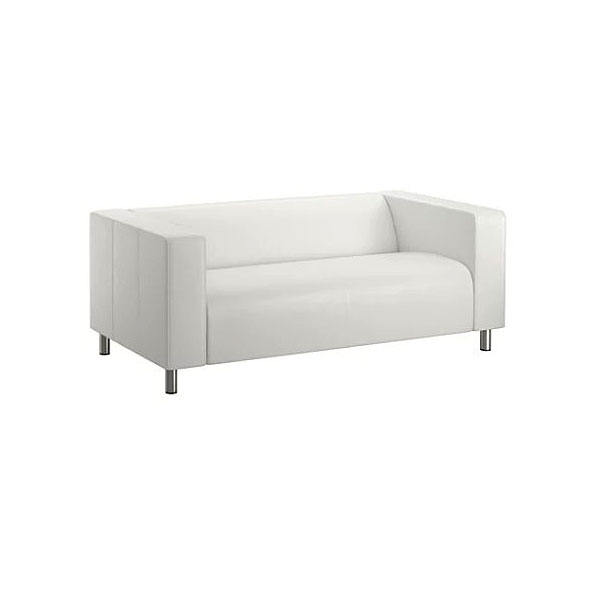 White Leather Majestic Settee