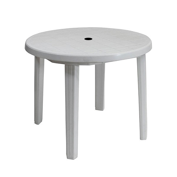 White Patio Table
