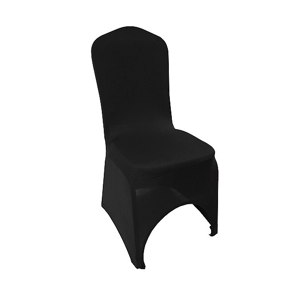 Black Stretch Chair Cover High Arch