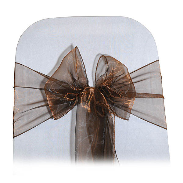 Bronze Organza Chair Tie