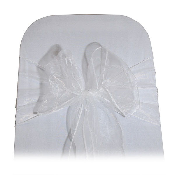 White Organza Chair Tie