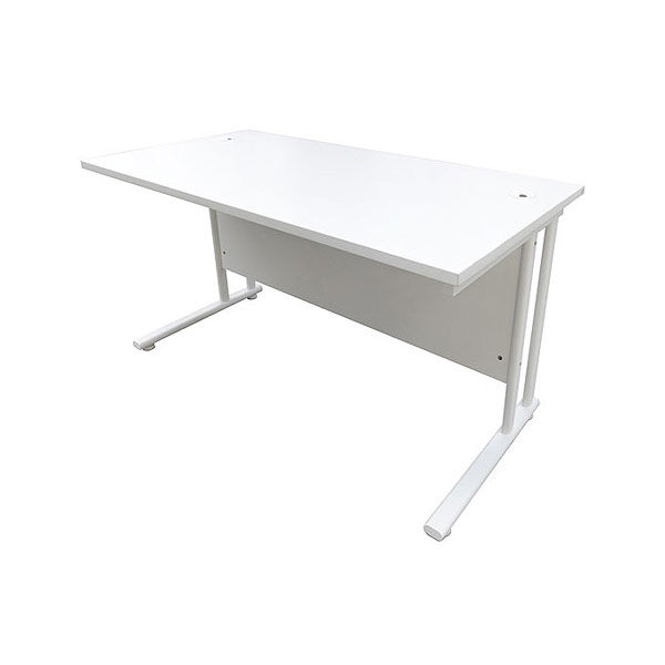 4ft White Office Desk