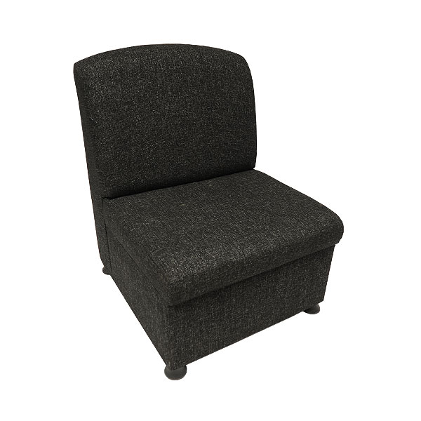 Charcoal Fabric Unit Chair