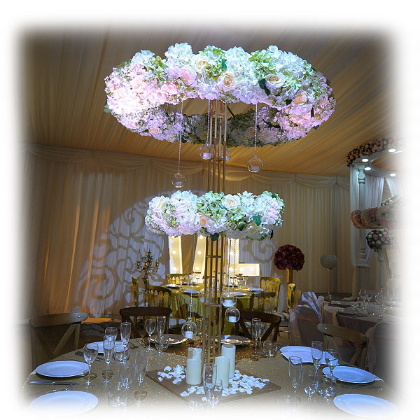 Double Tier Halo With Candle Accents