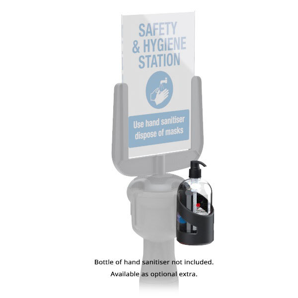 Bottle Holder For Retractable Queuing System