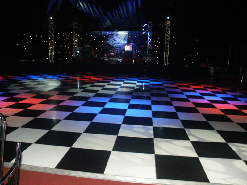 Hire Black & White Disco Dance Floors