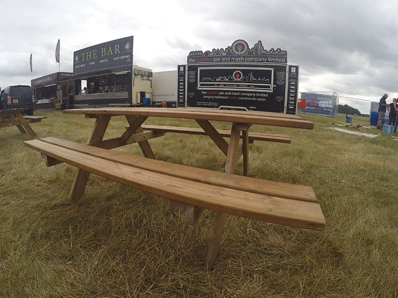 Hire Trestle Picnic Benches