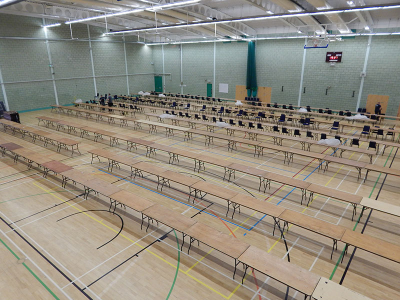 Vote Counting Venue Furniture Hire from Event Hire UK