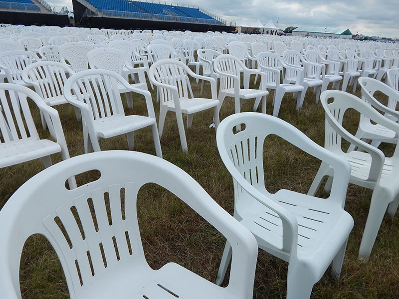 Hire White Plastic Patio Chairs