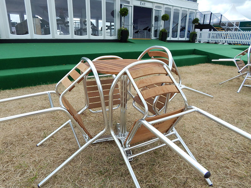 Metal & Wood Patio Furniture Hire