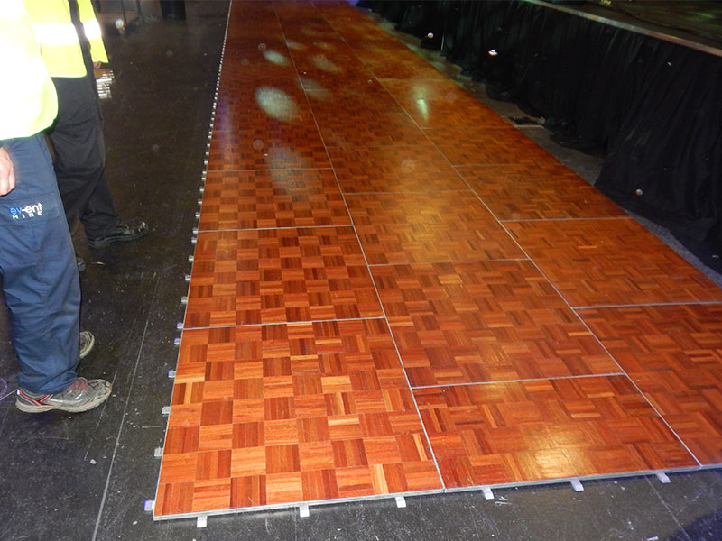Parquet Dance Floor Hire Set Up