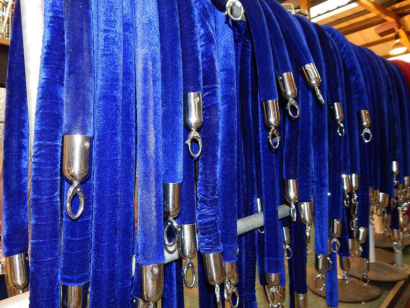 Blue Barrier Rope Hire