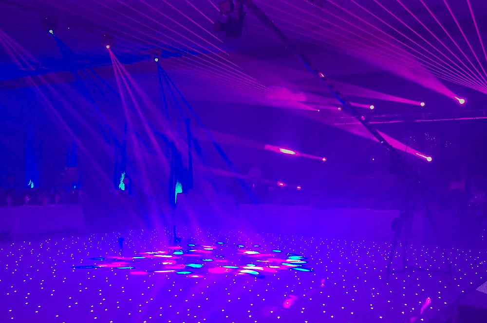 Hire A White LED Dancefloor