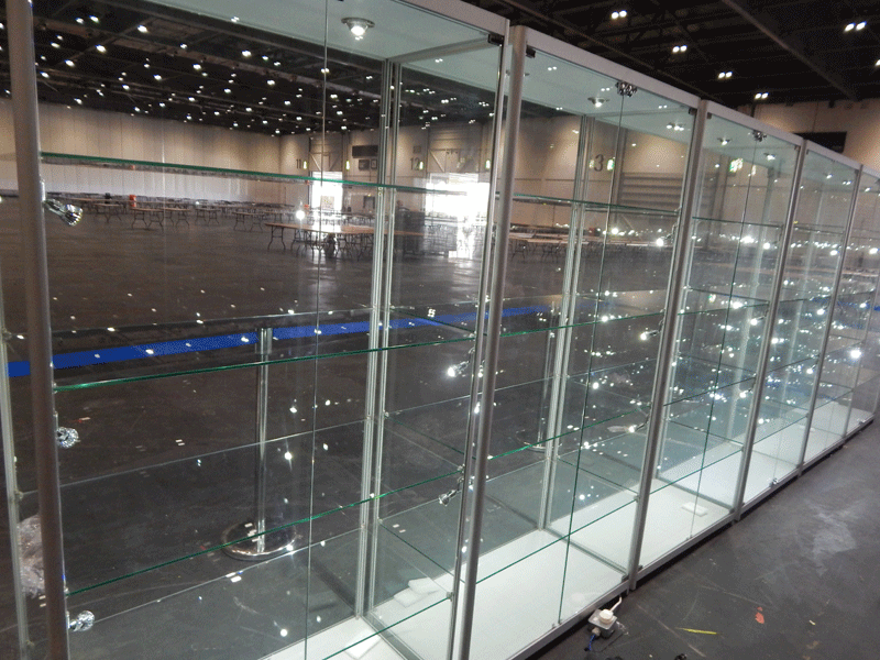 Hire Large Exhibition Display Cabinets