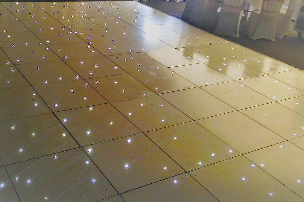 White Starlit Dance Floor Hire